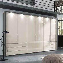 Schlafzimmer Kleiderschrank in Creme Weiß und