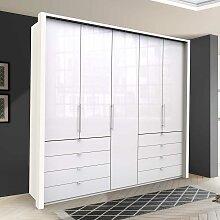 Schlafzimmer Kleiderschrank in Weiß Glas