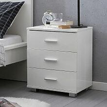 Schlafzimmer-Kommode mit Schubladen, weiß,