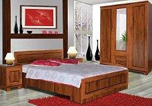 Schlafzimmer Komplett - Set C Dahra, 4-teilig,