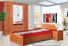 Schlafzimmer Komplett - Set C Louga, 4-teilig,