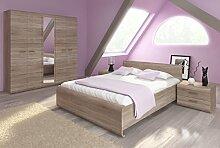 Schlafzimmer Komplett - Set E Gabes, 4-teilig,