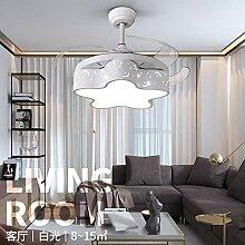 Schlafzimmer Kronleuchter, Stern-Ventilator-Lampe,