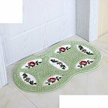 Schlafzimmer,Küche,Hall,Bodenmatte/Indoor Mat/Die Badezimmer Tür Anti-rutsch-matten/Toilette Wasser Absorbierenden Matten-D 45x75cm(18x30inch)