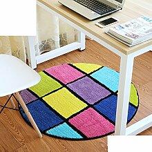 Schlafzimmer,Living Room,Bett,Runde Matten/Den Computer Pad/Stuhl-matte/Anti-rutsch-matten-G Durchmesser80cm(31inch)