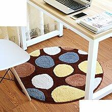 Schlafzimmer,Living Room,Bett,Runde Matten/Den Computer Pad/Stuhl-matte/Anti-rutsch-matten-C Durchmesser90cm(35inch)