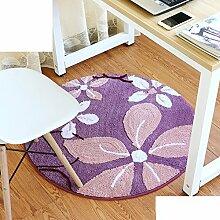 Schlafzimmer,Living Room,Bett,Runde Matten/Den Computer Pad/Stuhl-matte/Anti-rutsch-matten-V Durchmesser80cm(31inch)