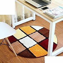 Schlafzimmer,Living Room,Bett,Runde Matten/Den Computer Pad/Stuhl-matte/Anti-rutsch-matten-Q Durchmesser120cm(47inch)