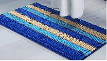 Schlafzimmer Matten Badezimmer-Tür-Matten-saugfähige Matten Badezimmer-Anti-Rutsch-Auflage-Tür-Eingangs-Matten-Eingangs-Matte-Flur-Teppich Bad Matten ( Farbe : Blau )