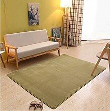 Schlafzimmer Matten Dickes Korallen Samtteppich maschinenwaschbar Haushalt minimalistisch modernen Wohnzimmer Couchtisch Teppich Schlafzimmer Nacht Decke Rechteck (Farbe: Matcha Grün) Bad Matten ( größe : 0.8*1.6 M )