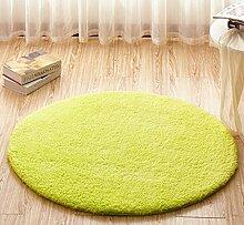 Schlafzimmer Matten Einfache runde Teppich Home Teppich Matratze Einfache Moderne Matten Europäische Wohnzimmer Couchtisch Teppich Sofa Bett Zimmer Schlafzimmer Teppich Full Floor Bett Decke Einfache moderne Matten Bad Matten ( Farbe : #2 , größe : 1.2m )