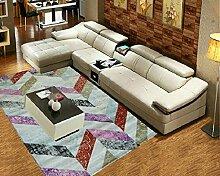 Schlafzimmer Matten Einfacher Teppich mit einem lebenden Teppich Wohnzimmer Sofa Teppich Einfache Tinte Teppich Wohnzimmer Moderne Einfache Kaffeematten Schlafzimmer Teppich Das moderne Schlafzimmer Dickens Der Teppich Bad Matten ( Farbe : #2 )