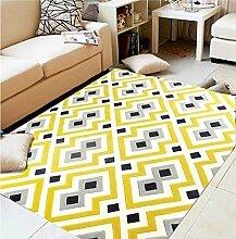 Schlafzimmer Matten Europäische Geometrische Teppich Wohnzimmer Couchtisch Dicke Teppich Nachttisch Matratze Rechteckige Home Matratze Custom Carpet Bad Matten ( Farbe : #3 , größe : 140*200CM )