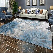 Schlafzimmer Matten Europäischer Teppich Wohnzimmer mit einfachem modernen Teppich im europäischen Stil Schlafzimmer Foyer Einfache moderne rechteckige Teppich Wohnzimmer Kaffeetisch Decke Schlafzimmer Teppich Bad Matten ( Farbe : #1 , größe : 140*190cm )