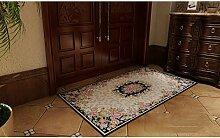 Schlafzimmer Matten European Style Matratze Tür Matratze Tür Eingang Veranda Mat Mat Bad Anti-Rutsch-Matten Wearable waschbar Matratze Computer-Stuhl-Kissen Bad Matten ( größe : 100*150cm )