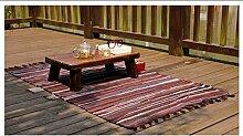 Schlafzimmer Matten Handgemachte Baumwolltuch Teppich Wohnzimmer Couchtisch Matten Schlafzimmer Nacht Mats Wattepad Bad Matten ( farbe : Braun , größe : 68*120cm )