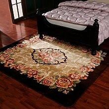 Schlafzimmer Matten Im europäischen Stil Luxus-Wohnzimmer-Schlafzimmer-Teppich-Shop für dicke Matten Haushaltsteppichmatten Teppichmatten Haushalts weichen Teppich-Fußmatten Tuch weichen Tuch Teppich-Fußmatten Bad Matten ( größe : 200cm-240cm )