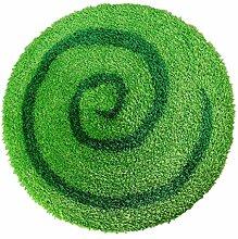 Schlafzimmer Matten kinder zimmer runde matte mit wohn - und schlafzimmer, im mediterranen stil, nordische süß langhaarige teppich (s)70*70 Bad Matten ( Farbe : Grün )