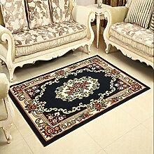 Schlafzimmer Matten Kontinentales Wohnzimmer Teppich Schlafzimmer Bedside Matratze Retro voll von Teppich Hall der Studie Teppich Bad Matten ( Farbe : #1 , größe : 58*88cm )