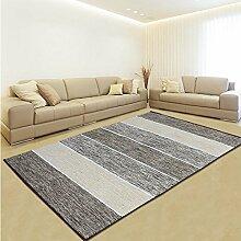 Schlafzimmer Matten Maschine waschbar Teppich Teppich Wohnzimmer Couchtisch modernen minimalistischen Schlafzimmer Nacht Decke Teppich weich faltbar Bad Matten ( Farbe : Brown Stripe )