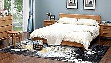 Schlafzimmer Matten Modernes Sofa Teppich Einfaches Wohnzimmer Teppich Schlafzimmer Nachttisch Teppich Modern Einfach Teppich Kontinentales Wohnzimmer Teppich Dickes Schlafzimmer Wohnzimmer Teppich Bad Matten ( Farbe : #2 , größe : 0.8*1.5m )