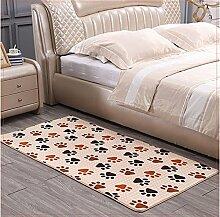 Schlafzimmer Matten Rechteckige Matten Thick Coral Velvet Teppich Modern Einfache Schlafzimmer Wohnzimmer Teppich Couchtisch Sofa Bedside Schwimmende Decke Bad Matten ( größe : 140*200cm )