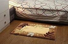 Schlafzimmer Matten Schlafzimmer-Matten saugfähige Badezimmer-Tür-Matten Haus-zu-Tür Küche-Fuß-Matte rutschfeste Eingangshalle-Eingangs-Teppich-Teppich-Fenster-Decke Bad Matten ( farbe : #4 )