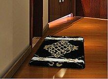 Schlafzimmer Matten Schlafzimmer-Matten saugfähige Badezimmer-Tür-Matten Haus-zu-Tür Küche-Fuß-Matte rutschfeste Eingangshalle-Eingangs-Teppich-Teppich-Fenster-Decke Bad Matten ( farbe : #1 )