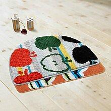 Schlafzimmer Matten waschmaschinenfest mats beflockung halbkreis 40 63 ㎝ zwei container, staub mats fußabtreter eingang matte staub badematte teppich. Bad Matten
