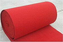 Schlafzimmer Matten Western-Stil Hochzeit Teppich Show Matten Hochzeit Backing Teppich Polyester Red Mats Hochzeit einmalige Tür Matte Bad Matten ( größe : 1.5*20m )
