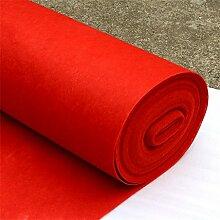 Schlafzimmer Matten Western-Stil Hochzeit Teppich Show Matten Hochzeit Backing Teppich Polyester Red Mats Hochzeit einmalige Tür Matte Bad Matten ( größe : 1.5*50m )