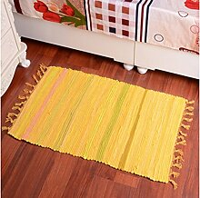 Schlafzimmer Matten Woven Cotton Rags Wohnzimmer Kaffee Mats European Style Foyer Teppich Mode Matratze Couchtisch Home Eingang Teppich Modern Einfach Teppich Bad Matten ( Farbe : #4 , größe : 86*150cm )