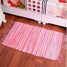 Schlafzimmer Matten Woven Cotton Rags Wohnzimmer Kaffee Mats European Style Foyer Teppich Mode Matratze Couchtisch Home Eingang Teppich Modern Einfach Teppich Bad Matten ( Farbe : #2 , größe : 50*80cm )
