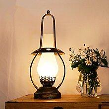 Schlafzimmer-Nachttisch-Lampen dekorative Lampen Restaurant Studie Schreibtischlampe Retro-Lampen alte Öl Lampe Laterne Tischleuchte