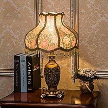 Schlafzimmer-Nachttischlampen-europäische