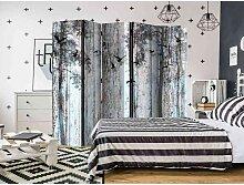 Schlafzimmer Raumteiler mit Wald Motiv und Vögeln
