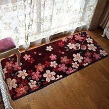 Schlafzimmer Rosa Kirschblüten Wohnzimmer Teppich Bedside Blanket Bedside Blanket Schwimmende Fenster und Decke Maschine waschbar Keine Fusseln Teppiche ( Farbe : #3 )