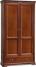 Schlafzimmer-Schrank Erle massiv Kirsche 200x108x53 cm