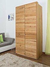 Schlafzimmer-Schrank Wildeiche massiv Natur 209x106x63 cm
