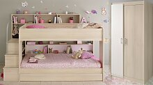 Schlafzimmer Set 3-tlg. inkl 90x200 Etagenbett,