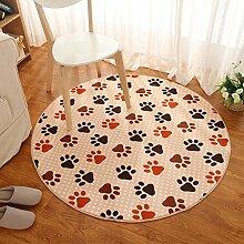 Schlafzimmer Teppich schlüpfen Runde Wolldecke/Wohnzimmer Couchtisch gepolsterte Teppich/ Korallen Plüsch gemusterte Teppiche und Schlafzimmer Erker Teppich/[Schlafzimmer-Fenster und Teppiche]-B diameter120cm(47inch)