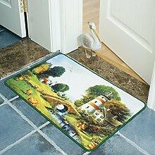 Schlafzimmer Tür Matte,Fußmatten,Küche WC Bad Wasserabsorbierenden Matte,Thin-pad-E 40x60cm(16x24inch)
