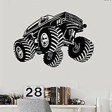 Schlafzimmer Vinyl Aufkleber Wand Monster Truck