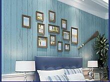 Schlafzimmer Vliestapeten Chinesischen retro mediterranen Wald Linien bars das Wohnzimmer TV Hintergrund Tapete,Retro Aquamarin