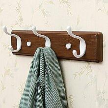 Schlafzimmer Wand Haken Racks, Bad Wand Kleiderbügel, Wand Kleiderständer, braun Wand hängenden Kleiderständer ( größe : 16cm )