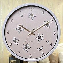 Schlafzimmer Wand Uhr stumm um koreanischen Garten Quarzuhr A/30*30cm