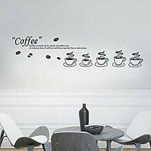 Schlafzimmer Wandaufkleber Kaffeetasse Symbol
