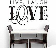 Schlafzimmer Wandaufkleber Papier Leben Lachen