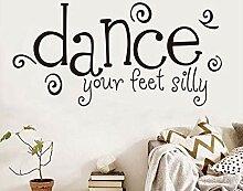 Schlafzimmer Wandaufkleber Tanzen Ihre Füße