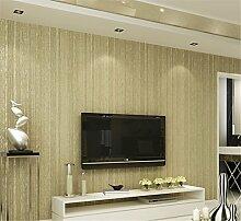 Schlafzimmer Wohnzimmer einfach Vliestapete, Retro Tapete Verlegung eine solide Farbe Hintergrund Wand Papier, khaki